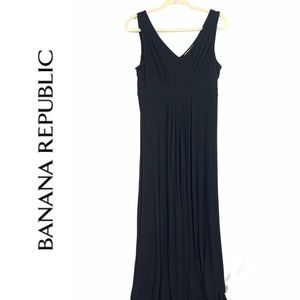 BANANA REPUBLIC Black Maxi Dress Large